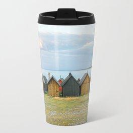 Fishing huts hutte 7 Travel Mug