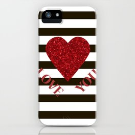 Love you Valentines day iPhone Case