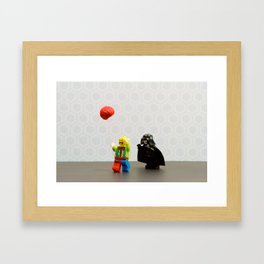 Vader vs Clowns Framed Art Print