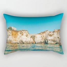 Rocks, Cliffs And Ocean Landscape At Lagos Bay Coast, Wall Art Print, Landscape Art, Poster Decor Rectangular Pillow