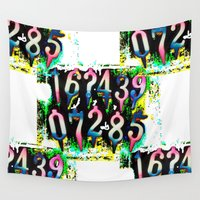 numbers Wall Tapestries featuring Numbers! by gasponce