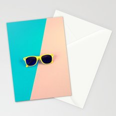 Yellow Sunglasses - for iphone Stationery Cards