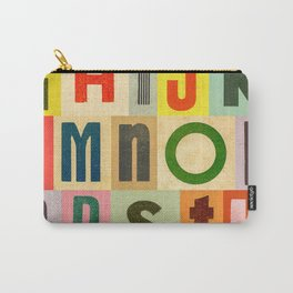 Colorful Vintage Letters Carry-All Pouch