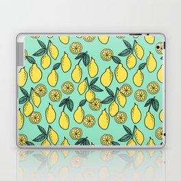 Lemons minimal pastel pattern print by andrea lauren cute home decor fruit patterns Laptop & iPad Skin