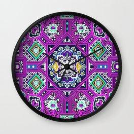 Anil tibetan print 2 Wall Clock