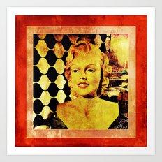 Marilyn M Art Print