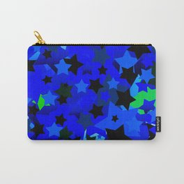 Punk Rock Stars Blue Carry-All Pouch