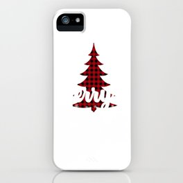 Merry And Bright Holiday Season Gift iPhone Case