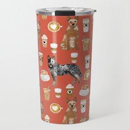 Australian Cattle Dog coffee pet friendly dog breed dog pattern art Travel Mug