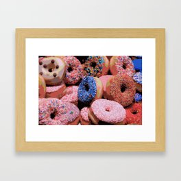 Donuts - JUSTART © Framed Art Print