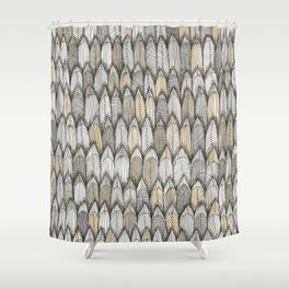 sketchy feather pattern in pale colors Shower Curtain