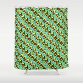 Avocados on Aqua, Diagonal Shower Curtain