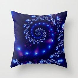 Swirling Blue Lights Throw Pillow