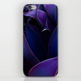 Deep Purple Abstract Leaves iPhone Skin