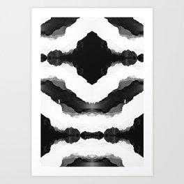Black Isolation Fields Art Print