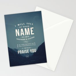 I will tell of your name Stationery Cards