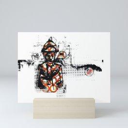 Distressed textured Mini Art Print