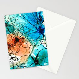 Modern Floral Art - Wild Flowers 2 - Sharon Cummings Stationery Cards