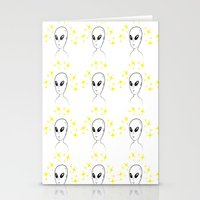 aliens Stationery Cards featuring Aliens by Ruojing Wang