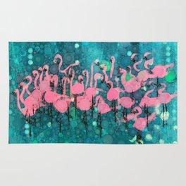 :: Flamingos Among Us :: Rug