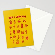 Bar e lanches Stationery Cards