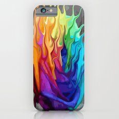colorful flaming flower iPhone 6s Slim Case