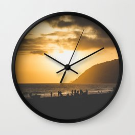 Ipanema Sunset Wall Clock