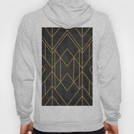 Geometric Seamless Black Gold Vintage Pattern (Style of 1920s) Hoody