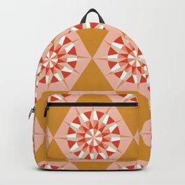 Kaleidoscope Retro Mustard Backpack