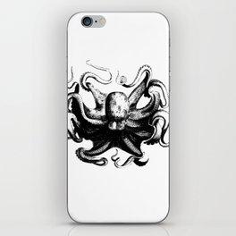 Cool Aqua animal Octopus sketch iPhone Skin
