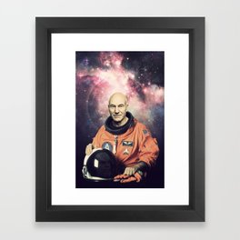 Captain Picard - Astronaut in Space Framed Art Print