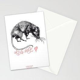 love rat Stationery Cards