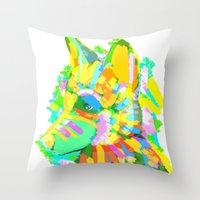 howl Throw Pillows featuring Howl by Nedblr