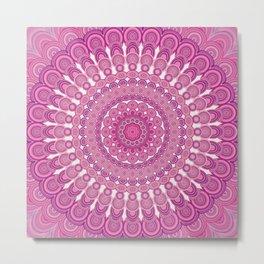Pink oval mandala Metal Print