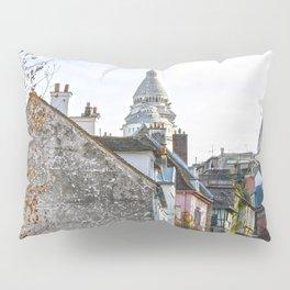 French street in Montmartre, Paris Pillow Sham