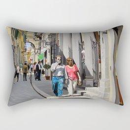 Via del Corso Rectangular Pillow