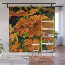 glowing autumn leafs Wall Mural