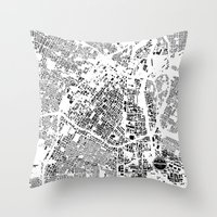 los angeles Throw Pillows featuring LOS ANGELES by Maps Factory
