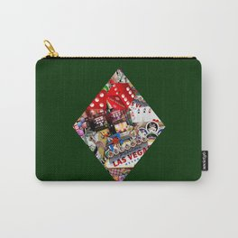 Diamond Playing Card Shape - Las Vegas Icons Carry-All Pouch