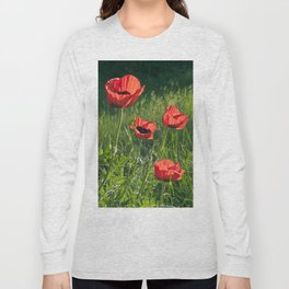 Dream of Red Poppies Long Sleeve T-shirt