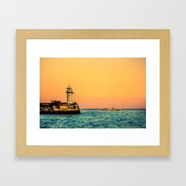Old Lighthouse Framed Art Print