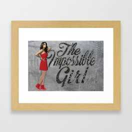 The Impossible Girl Framed Art Print