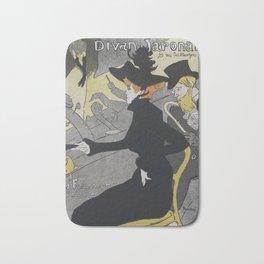 Divan Japonais, 1892 H. T. Lautrec Bath Mat