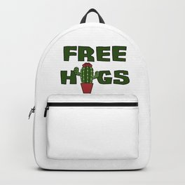 Cati cactus free hugs hug me stin prickly plant saying funny gift idea Backpack