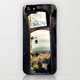 Traditional alley in Assisi iPhone Case