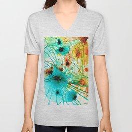 Abstract Art - Possibilities - Sharon Cummings Unisex V-Neck