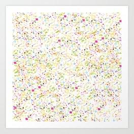 Musical Confetti Art Print