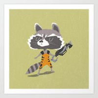 rocket raccoon Art Prints featuring Rocket Raccoon by Rod Perich