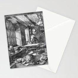 Saint Jerome in His Study by Albrecht Dürer Stationery Cards