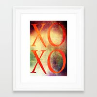 xoxo Framed Art Prints featuring XoXo by Fine2art